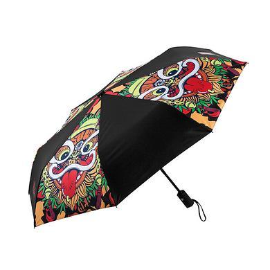 【爆】醒狮元素全自动雨伞