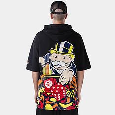 HEA【爆】1626大富翁联名合作醒狮印花短袖连帽T恤