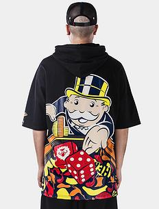 【爆】1626大富翁联名合作短袖连帽T恤