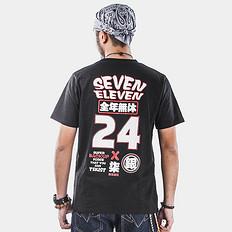银鳞堂7-11印花短袖T恤