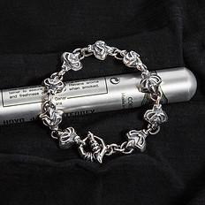银鳞堂925银复古手链