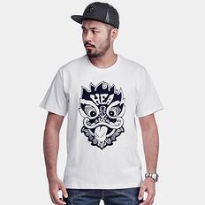 HEA中国风醒狮植绒短袖T恤