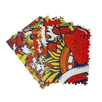 【爆】原创设计满版醒狮益智木质拼图玩具