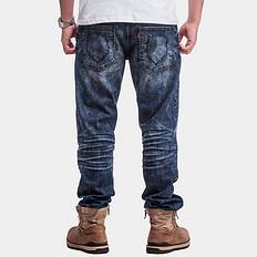 HEA重工艺微弹洗水牛仔裤