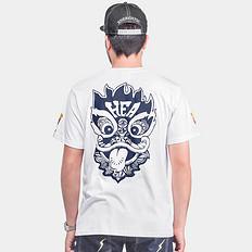 HEA纯棉醒狮印花短袖男T恤