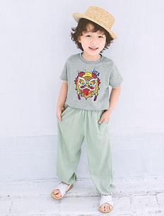 中国风狮子头童装T恤