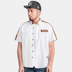 HEA狮子头元素刺绣短袖衬衫