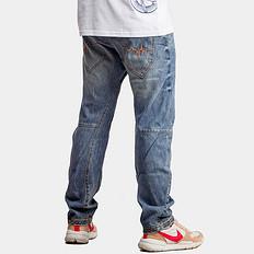 響原创潮牌立体剪裁水洗牛仔裤