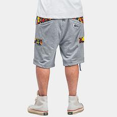 HEA本土国潮中国风醒狮拼接休闲男短裤卫衣裤