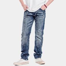 HE75 DENIM【一口价】原创潮牌大码男装微弹洗水牛仔裤