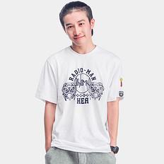 HEAHEA&RadioMan;乐队合作款狮子头印花短袖T恤男