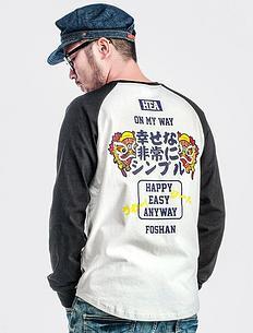 2018秋冬新款纯棉潮男印花个性长袖T恤