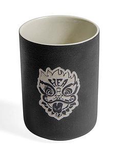 中国风狮子头陶瓷杯