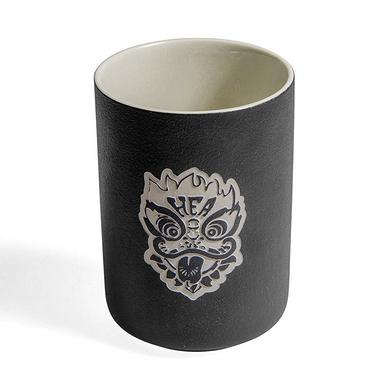 中国风醒狮头陶瓷杯