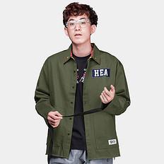 HEA原创潮牌中国风醒狮元素刺绣长袖衬衫薄外套