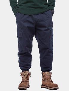 潮牌原创复古大码男装哈伦风束腰休闲工装裤长裤