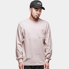 HEA纯色简约印花长袖T恤