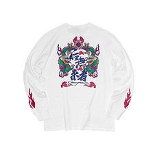 银鳞堂中国风印花纯棉长袖T恤