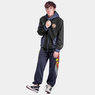 中国风撞色醒狮迷彩3M反光休闲裤