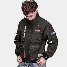 HEA中国风醒狮刺绣多口袋秋冬保暖夹克外套