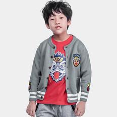 HEA中国风醒狮刺绣亲子装男童女童毛衣针织外套