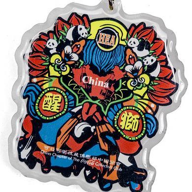 潮牌HEA&可口可乐收藏醒狮配饰挂饰钥匙扣