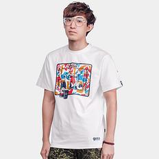 HEAHEA&可口可乐收藏联名中国风印花短袖T恤