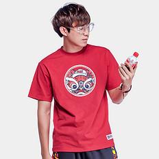 HEAHEA&可口可乐收藏联名中国风醒狮印花短袖T恤