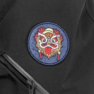中国风原创醒狮元素印花风格加厚加长羽绒服
