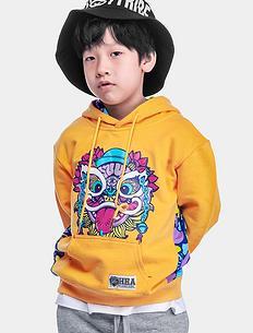 【北京pk10qq论坛网】原创狮子头印花拼接迷彩童装套头卫衣