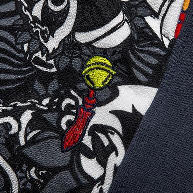 【HOT】中国风原创醒狮元素满版印花束脚休闲裤