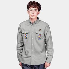 HEA原创设计中国风醒狮迷彩印花长袖衬衫