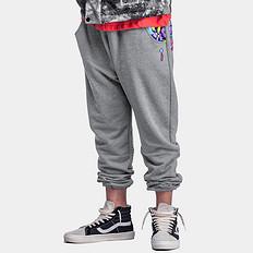 HEA原创设计中国风醒狮元素迷彩拼接休闲裤