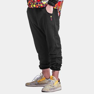 原创设计中国风醒狮迷彩拼接休闲裤