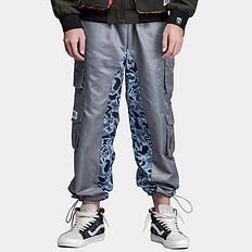 HEA原创潮牌中国风醒狮元素多口袋工装防风休闲裤