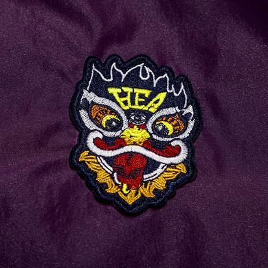 【特惠】原创潮牌撞色醒狮迷彩拉链立领风衣外套