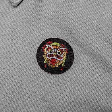 原创潮牌中国风醒狮元素大码休闲纯棉童装衬衫