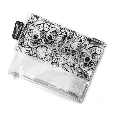 原创潮牌设计醒狮迷彩透明斜挎包小包蹦迪包