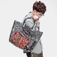 HEA原创潮牌设计迷彩透明单肩包手提包