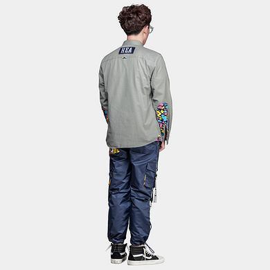 原创潮牌设计醒狮印花多口袋休闲裤