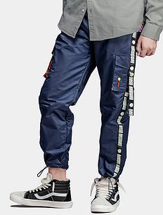 原创潮牌设计印花多口袋休闲裤