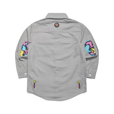 原创设计中国风醒狮潮童大码休闲童装衬衫