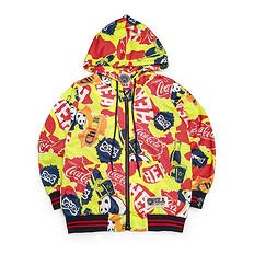 HEAHEA&可口可乐收藏联名中国风醒狮迷彩防风童装卫衣外套