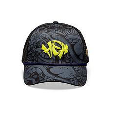 HEA原创设计中国风醒狮元素迷彩弯檐帽
