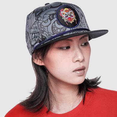 原创设计中国风醒狮元素迷彩货车帽