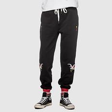 HEA原创设计中国风格复古刺绣大码休闲裤