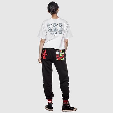 原创设计中国风格复古刺绣大码休闲裤