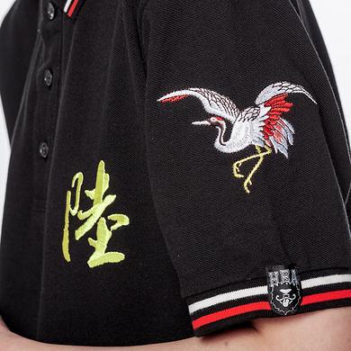 【5折特惠】潮牌原创设计中国风醒狮元素休闲短袖Polo
