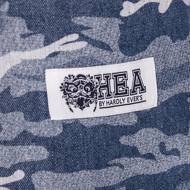 原创设计中国风醒狮元素迷彩短袖衬衫