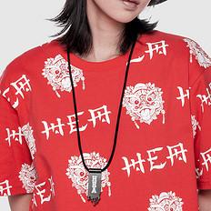 HEA潮牌原创中国风醒狮元素钱夹造型项链